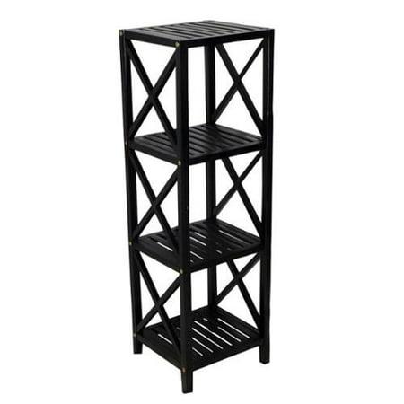 4 tier bamboo rack black 3 tier shelf. Black Bedroom Furniture Sets. Home Design Ideas