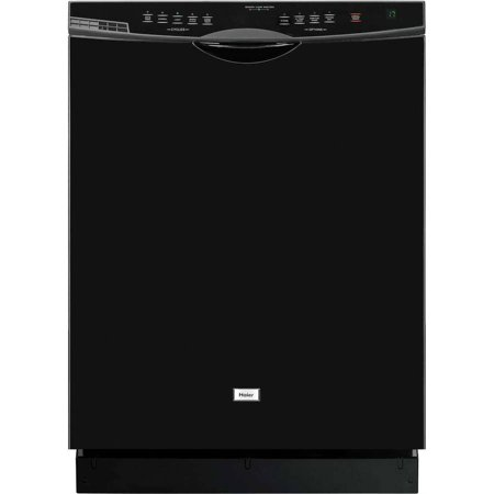 Haier Energy-Star-Rated Dishwasher with SteamRite Technology, Black
