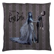 Corpse Bride Bride And Groom Throw Pillow White 16X16