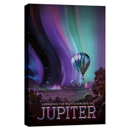Epic Graffiti Visions Of The Future  Jupiter Graphic Art On Canvas