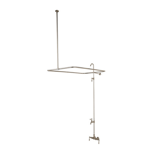 Wall Mount Traditional Tub Filler in Satin Nickel Finish