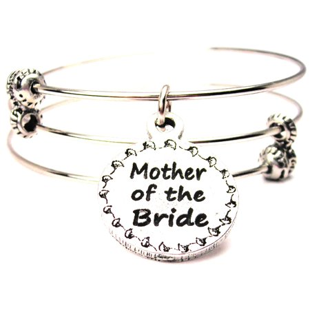 Mother Of The Bride Circle Triple Style Expandable Bangle Bracelet  Fits 7 5  Wrist  Chubby Chico Charms Exclusive