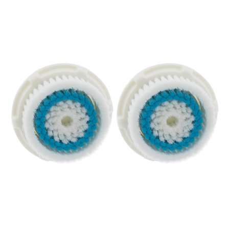 2-Pack Deep Pore Facial Cleansing Brush Heads for Clarisonic Mia 2