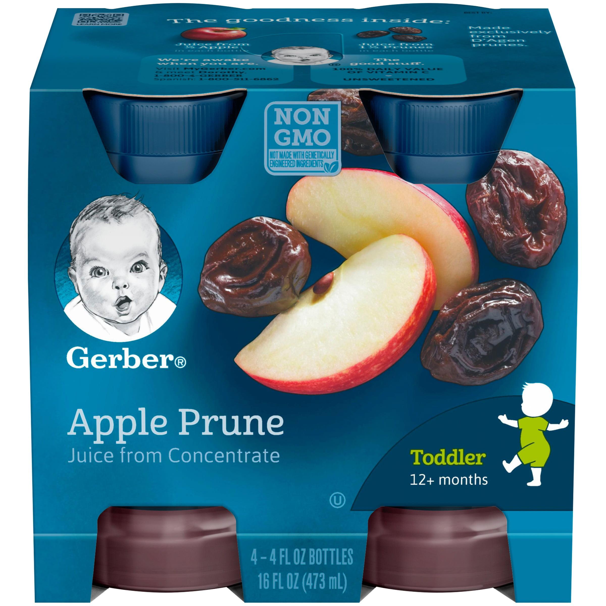 GERBER Apple Prune Juice 4-4 fl. oz. Bottles