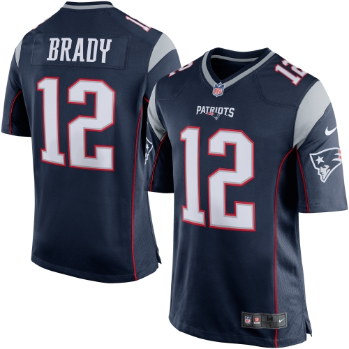 Tom Brady New England Patriots Nike Game Jersey - Navy Blue/Silver