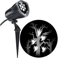 Halloween Lightshow Projection Plus-Whirl-a-Motion+Static-Ghost with Tree (White) by Gemmy Industries