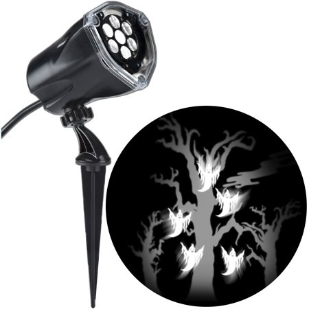 Halloween Lightshow Projection Plus-Whirl-a-Motion+Static-Ghost with Tree (White) by Gemmy Industries](Halloween Projection)