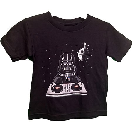 Star Wars DJ Darth Vader Death Star Digi Graphic Youth T-Shirt Small 4/5