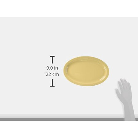 Winco MMPO-138 Oval Melamine Platter, 13-Inch by 8-Inch, Tan - image 2 of 2
