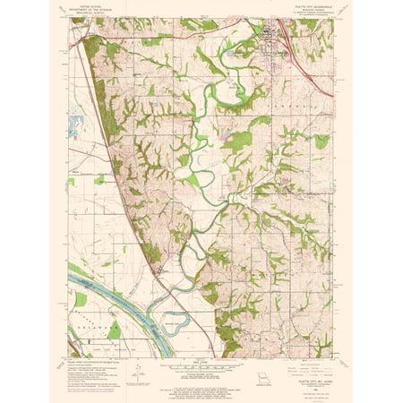 Topographic Map Platte City Missouri Quad Usgs 1961 23 X 30 44
