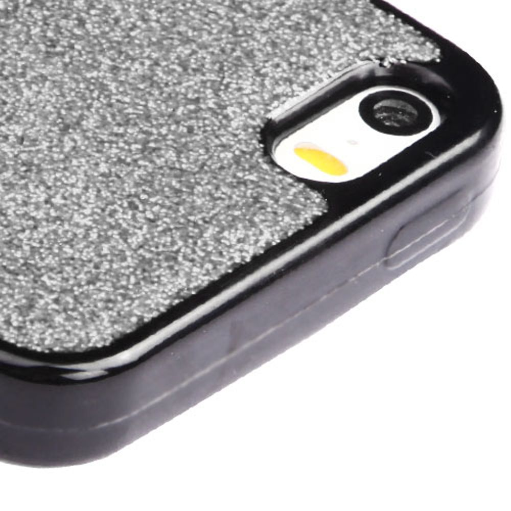 iPhone SE Case, iPhone 5S Case, by Insten Glittering Silver Stars (Black) Krystal Gel Series TPU Candy Skin Case For Apple iPhone SE / 5 / 5S - Red - image 1 of 3