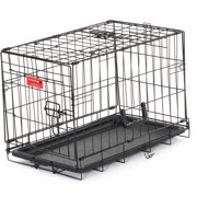 "22""L Lucky Dog Folding Black Wire 2 Door Training Crate"