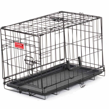 22 L Lucky Dog Folding Black Wire 2 Door Training Crate