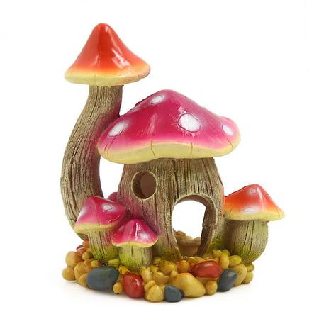 Aquarium Tank Artificial Mushroom House Decoration