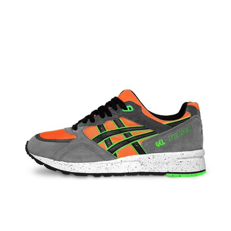 Mens Asics Gel Lyte Speed Grey Orange Green White Black