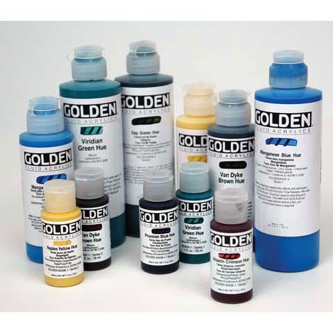 Golden - Historical Fluid Acrylic Hue - 8 oz. - Indian Yellow Hue