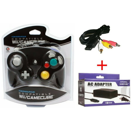 Gamecube Starter Bundle - Controller, Power Adapter, and AV Cable New &