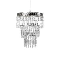 Tadpoles Faux-Crystal & Chrome Queen's Crown Pendant Light Shade