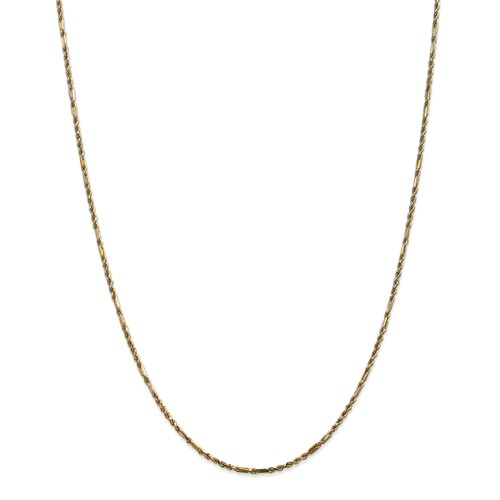 14k Yellow Gold 30in 2.0mm Milano Rope Necklace Chain by Jewelrypot