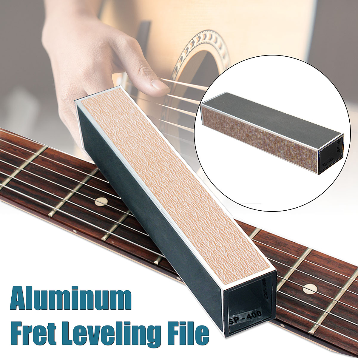 SaicleHome Guitar Musical Instruments Bass Beam Luthier Tool Fret Leveling File Aluminum