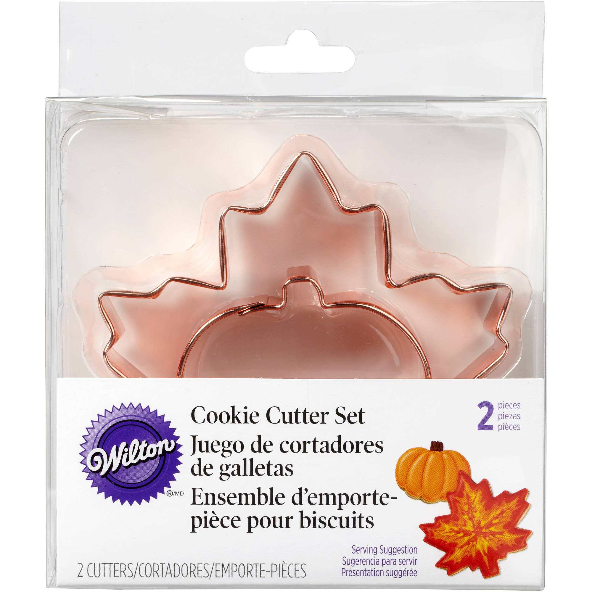 Wilton Metal Cookie Cutter Set, Maple Leaf & Pumpkin 2 ct. 2308-5011