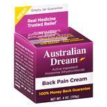 Australian Dream Back Relief Cream4.0 oz.(pack of 1)