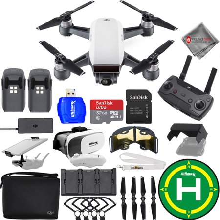 DJI Spark Fly More Combo (Alpine White) EXTREME ACCESSORY 2 BATTERY (TOTAL) BUNDLE