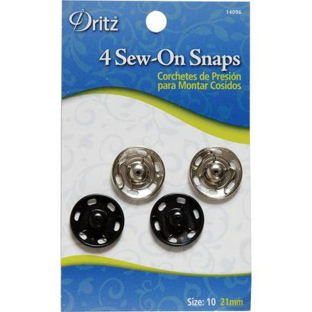 Dritz Large Black Snaps, 4 Count