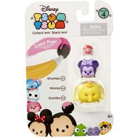 Disney Tsum Tsum Series 4 Color Pop! Grumpy, Minnie & Dumbo Mini Figures, 3 Pack