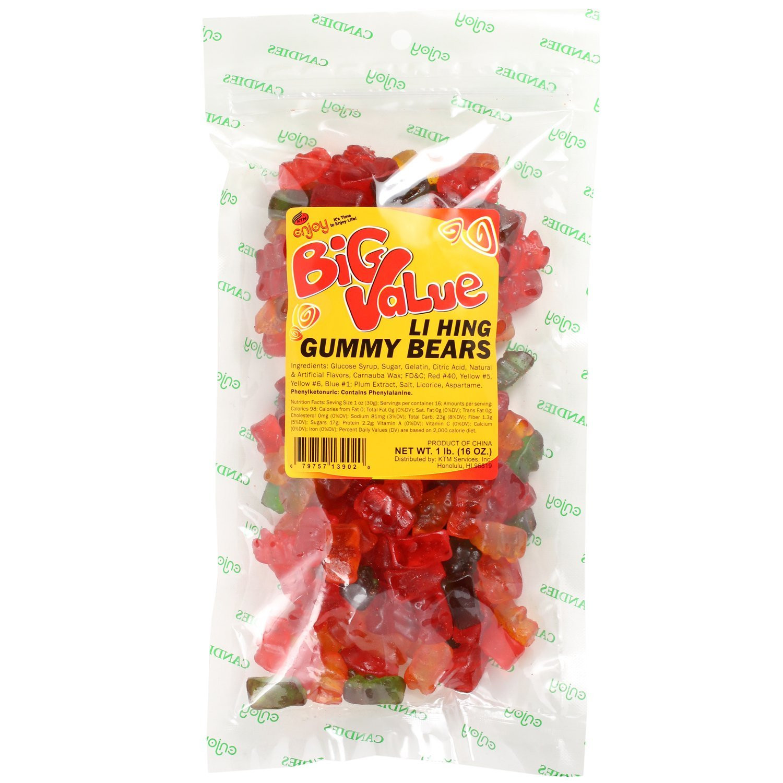 Enjoy Li Hing Gummy Bears 16 Oz by KTM SERVICES INC