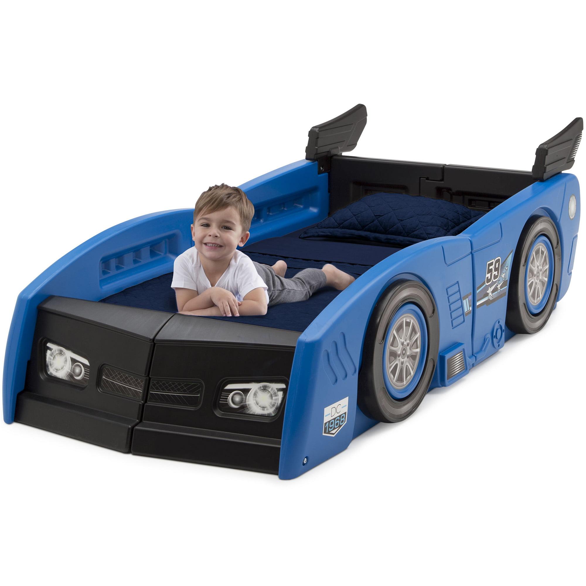Delta Children Grand Prix Race Car Toddler And Twin Bed Blue Walmart Com Walmart Com