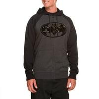 Batman Lines Mens Hooded Fleece
