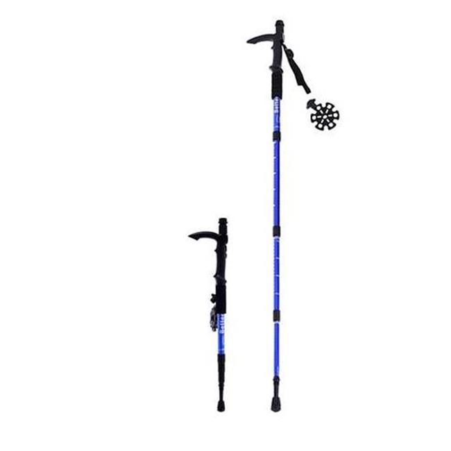 Microgear EC16329-Blue Durable Antishock Hiking Cane Adjustable Walking Pole Trekking Stick Red by Microgear