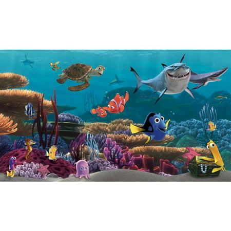Disney Finding Nemo Wall - Disney Finding Nemo Prepasted Mural, 6' x 10.5'