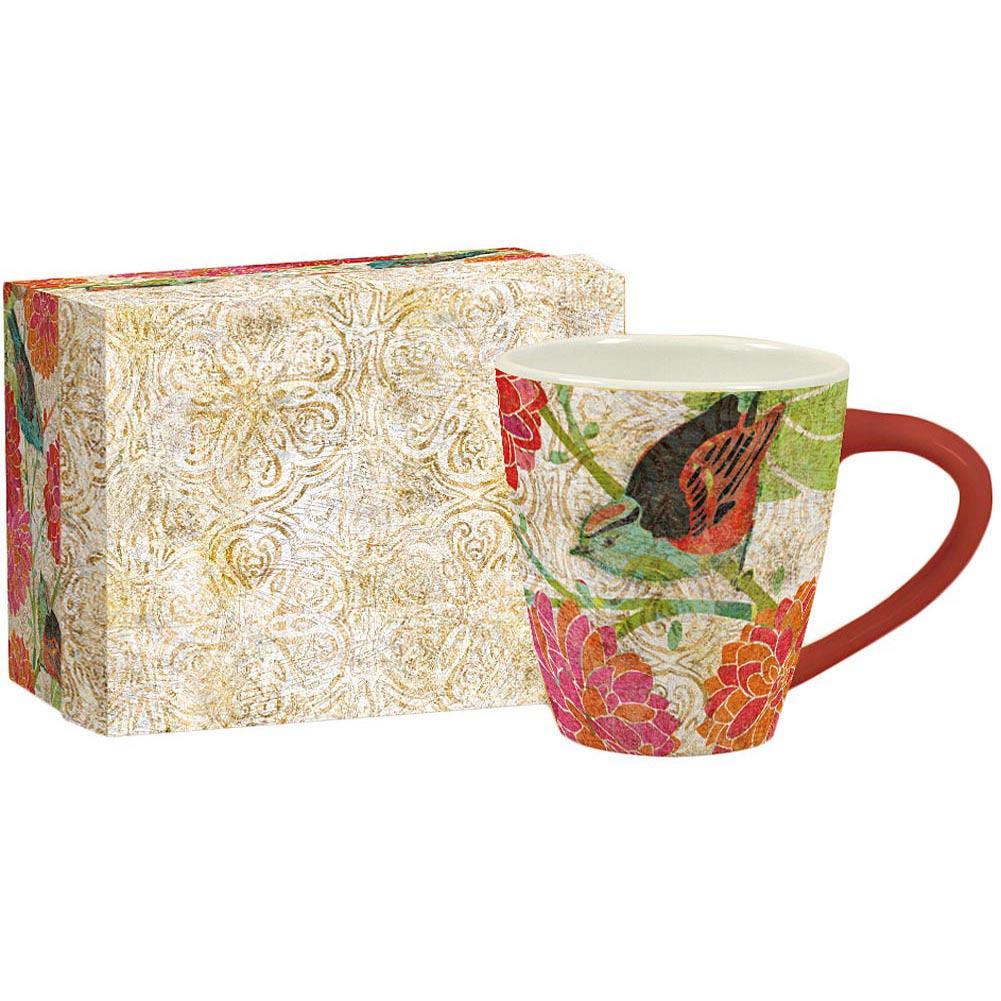 Garden Birdhouse Cafe Mug