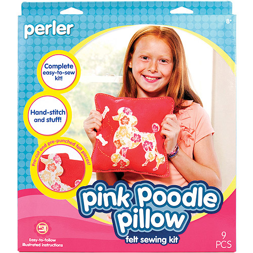 Pillow Sew and Stuff Kit, Pink Poodle
