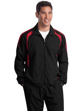 f20e42697 Free shipping. Product Image Sport-Tek TJST60 Mens Tall Colorblock Raglan  Jacket - Black/ True Red - Large