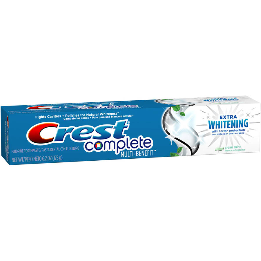 Crest Complete Clean Mint Flavor Extra Whitening Toothpaste with Tartar Protection, 6.2 oz