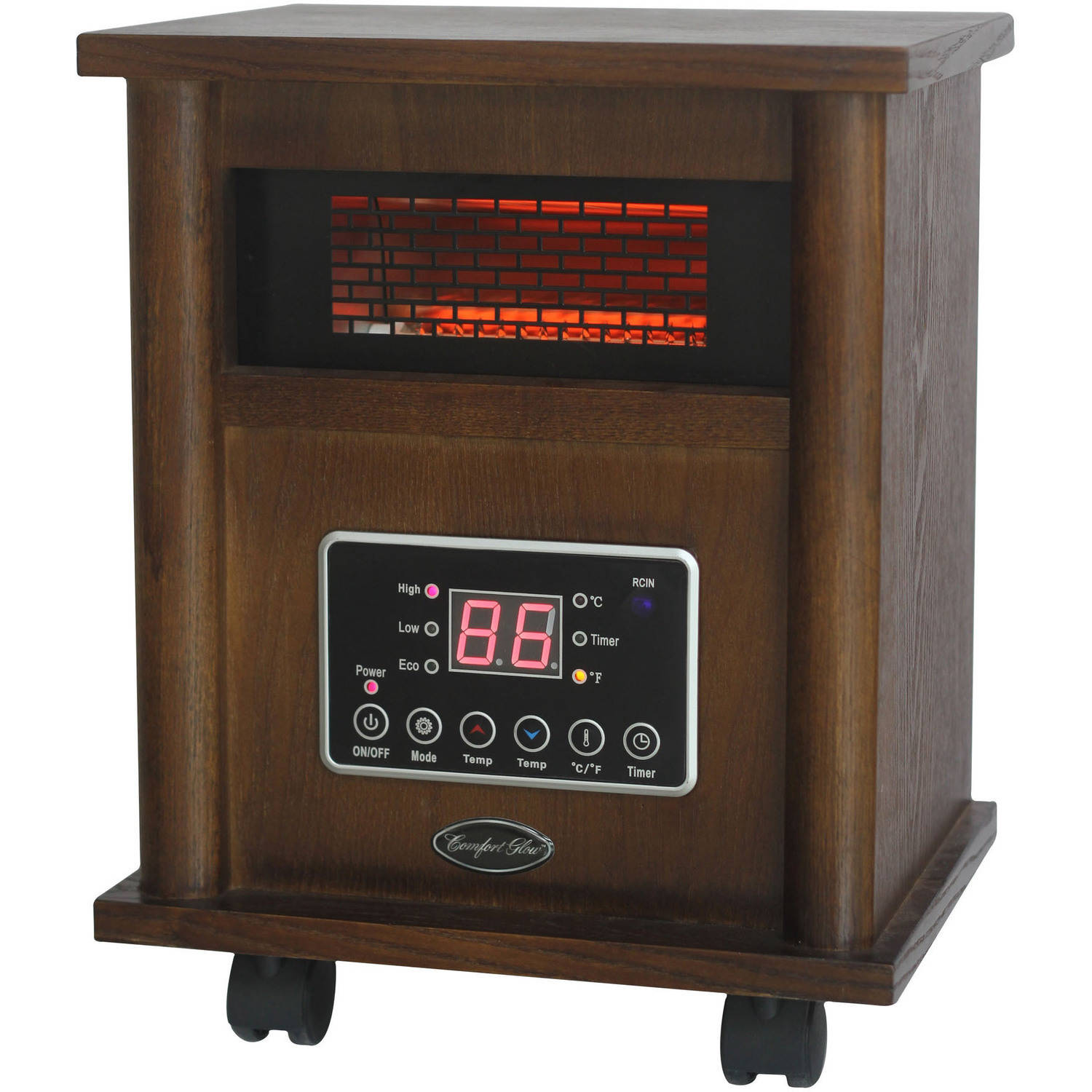 Comfort Glow Infrared Quartz Heater, Wood