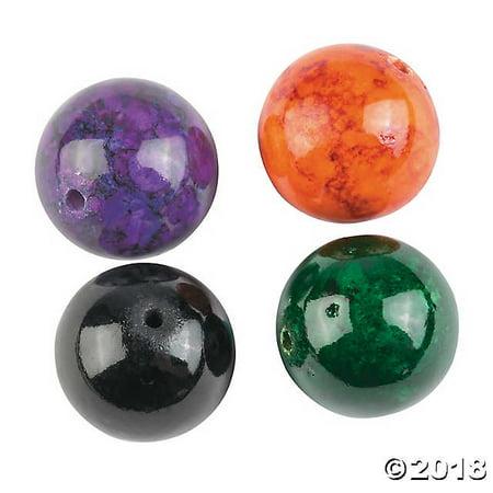 Glass Halloween Beads (Premium Glass Halloween Mountain Jade Beads -)