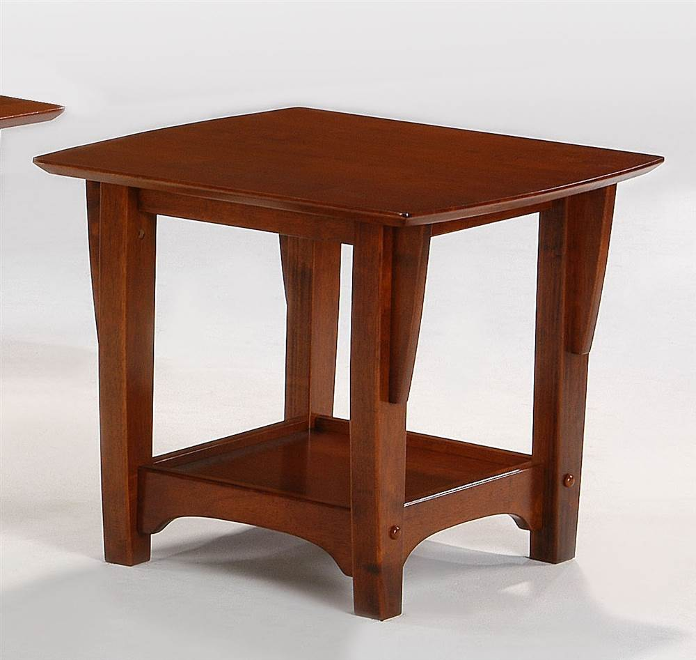 Wood End Table in Cherry Finish