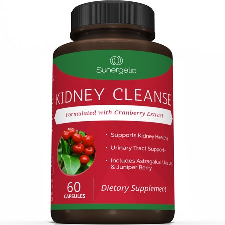 Premium Kidney Cleanse Supplement - Powerful Kidney Support Formula With Cranberry Extract - Helps Support Kidney Health & Urinary Tract Support - 60 Vegetarian Capsules