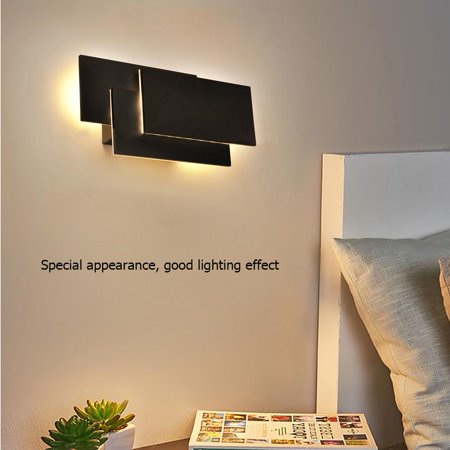 Sonew 12W Modern LED Wall Mounted Sconce Light Decor Lamp Warm White for Bedroom , Bedside Nightstand Decor Light, Wall Sconce Light Modern ()
