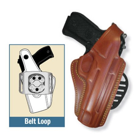 Gould & Goodrich 807-250 Gold Line Paddle Holster (Chestnut Brown) Fits SIG 250 COMPACT 9MM, 40, .357 - 807-250 - Gould (Fits Sig 250 Compact)