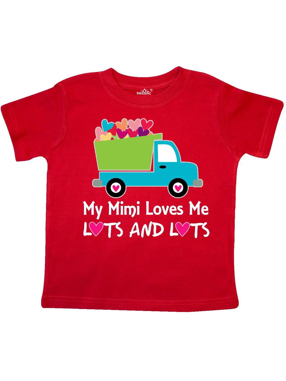 Mimi Loves Me Grandson Gift Toddler T-Shirt