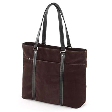 Mobile Edge Suede Ultra Tote Chocolate METL08 by Mobile Edge
