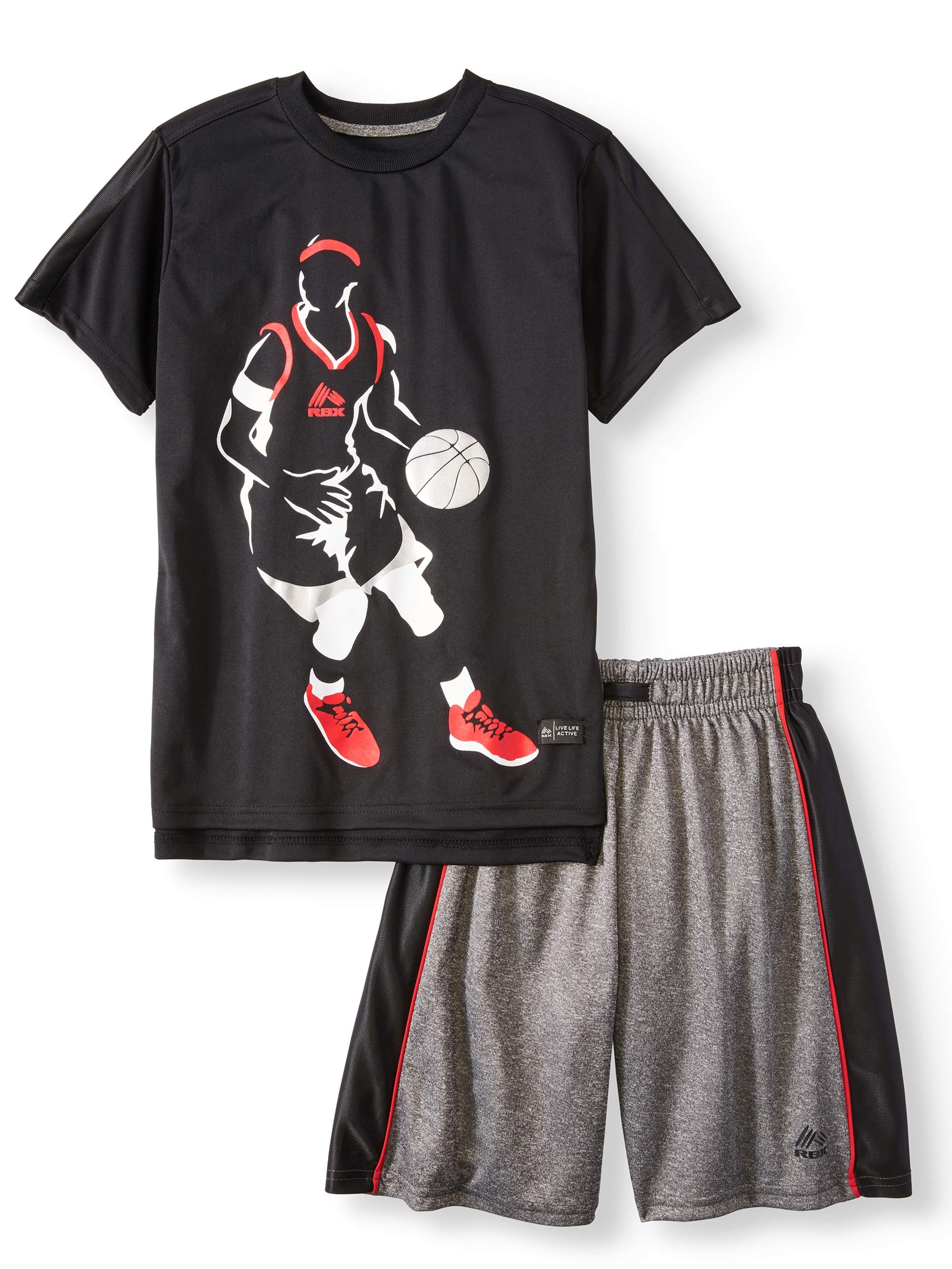 Boys' Graphic Tee and Performance Shorts Set
