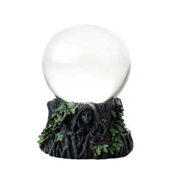 Party Games Accessories Halloween Séance Crystal Balls Divination Tool See The Future 100mm Mother Maiden Crone - Halloween M&m Game