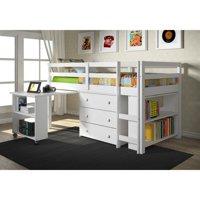 Twin Low Loft Includes Desk, Chest & Bookcase
