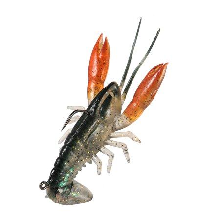 Lixada 8cm / 14g Soft Crawfish Shrimp Lobster Claw Bait Artificial Lure Bait